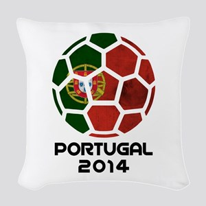 Portugal World Cup 2014 Woven Throw Pillow