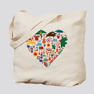 Portugal World Cup 2014 Heart Tote Bag