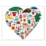 Portugal World Cup 2014 Heart Small Poster
