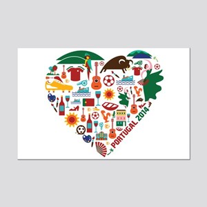 Portugal World Cup 2014 Heart Mini Poster Print