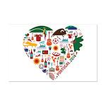 Portugal World Cup 2014 Heart Mini Poster Print