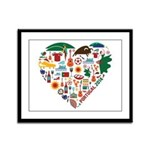 Portugal World Cup 2014 Heart Framed Panel Print