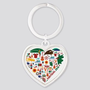 Portugal World Cup 2014 Heart Heart Keychain
