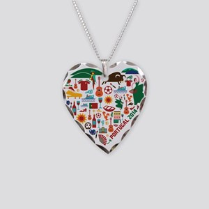 Portugal World Cup 2014 Heart Necklace Heart Charm
