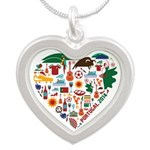 Portugal World Cup 2014 Hear Silver Heart Necklace