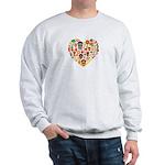 Ghana World Cup 2014 Heart Sweatshirt