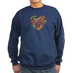 Ghana World Cup 2014 Heart Sweatshirt (dark)
