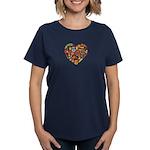 Ghana World Cup 2014 Heart Women's Dark T-Shirt