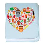 Ghana World Cup 2014 Heart baby blanket