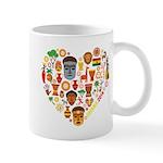 Ghana World Cup 2014 Heart Mug