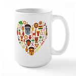 Ghana World Cup 2014 Heart Large Mug