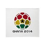 Ghana World Cup 2014 Throw Blanket