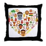 Ghana World Cup 2014 Heart Throw Pillow