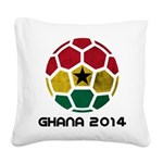 Ghana World Cup 2014 Square Canvas Pillow