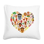 Ghana World Cup 2014 Heart Square Canvas Pillow