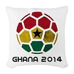 Ghana World Cup 2014 Woven Throw Pillow