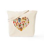 Ghana World Cup 2014 Heart Tote Bag