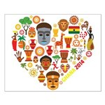 Ghana World Cup 2014 Heart Small Poster