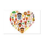 Ghana World Cup 2014 Heart Mini Poster Print
