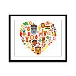 Ghana World Cup 2014 Heart Framed Panel Print
