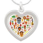 Ghana World Cup 2014 Heart Silver Heart Necklace