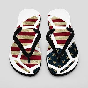 USA World Cup 2014 Flip Flops