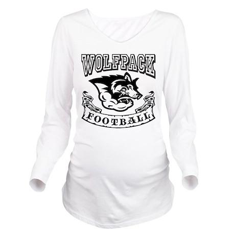 Wolfpack Football Long Sleeve Maternity T-Shirt
