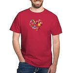 Belgium World Cup 2014 Heart Dark T-Shirt