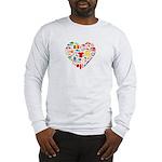 Belgium World Cup 2014 Heart Long Sleeve T-Shirt