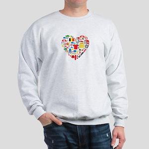 Belgium World Cup 2014 Heart Sweatshirt