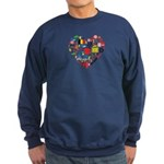 Belgium World Cup 2014 Heart Sweatshirt (dark)