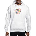 Belgium World Cup 2014 Heart Hooded Sweatshirt