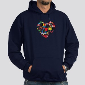 Belgium World Cup 2014 Heart Hoodie (dark)