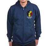 Belgium World Cup 2014 Zip Hoodie (dark)