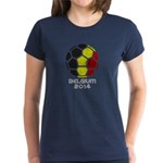 Belgium World Cup 2014 Women's Dark T-Shirt