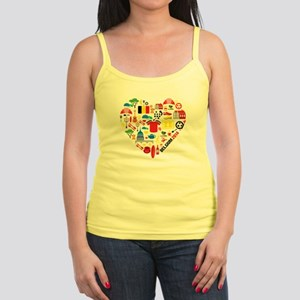 Belgium World Cup 2014 Heart Jr. Spaghetti Tank