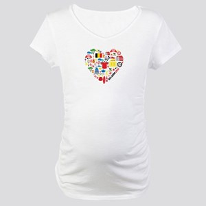 Belgium World Cup 2014 Heart Maternity T-Shirt