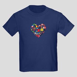 Belgium World Cup 2014 Heart Kids Dark T-Shirt