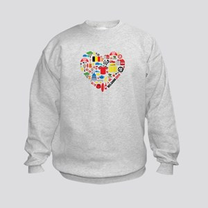 Belgium World Cup 2014 Heart Kids Sweatshirt