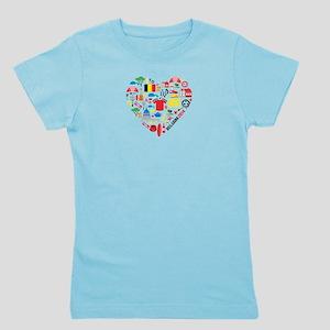 Belgium World Cup 2014 Heart Girl's Tee