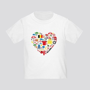 Belgium World Cup 2014 Heart Toddler T-Shirt