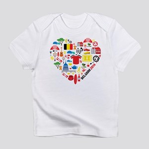 Belgium World Cup 2014 Heart Infant T-Shirt