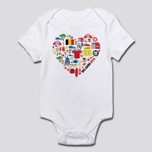 Belgium World Cup 2014 Heart Infant Bodysuit