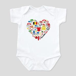 Belgium World Cup 2014 Heart Infant Bodysuit