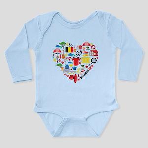 Belgium World Cup 2014 Long Sleeve Infant Bodysuit