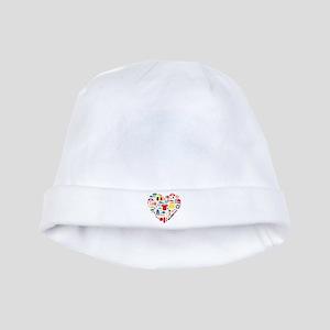 Belgium World Cup 2014 Heart baby hat