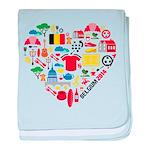 Belgium World Cup 2014 Heart baby blanket