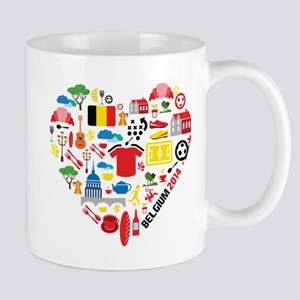 Belgium World Cup 2014 Heart Mug