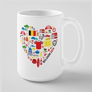 Belgium World Cup 2014 Heart Large Mug