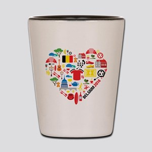 Belgium World Cup 2014 Heart Shot Glass